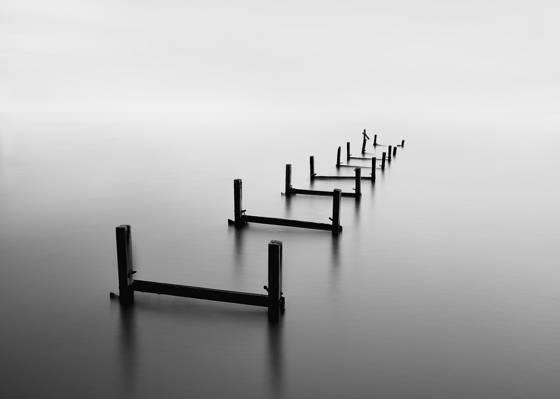 无限,湖,穿孔