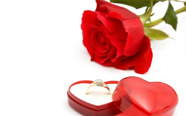 鲜花,框,浪漫,红色,浪漫,玫瑰,戒指,婚礼,婚礼