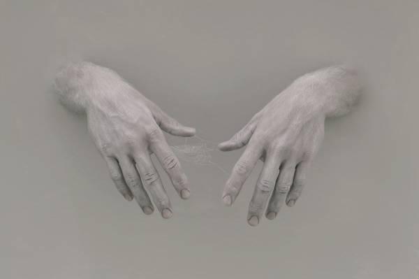 手,背景,网