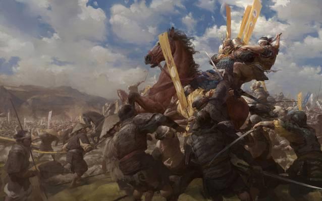 战争,战争,死亡,武士,马,军队