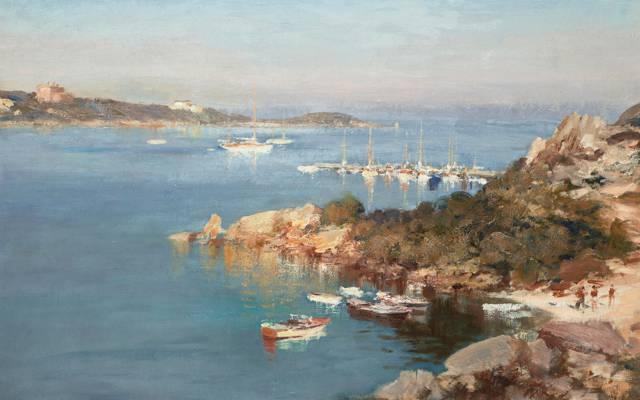 图片,游艇在切尔沃港,风景,西海岸圣卢西亚海滩