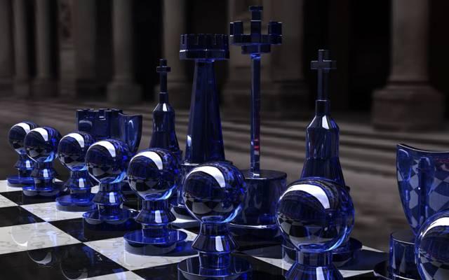 游戏,董事会,黑色和白色,战略,Kjasi,国际象棋设置,图,蓝色玻璃,蓝色边,...