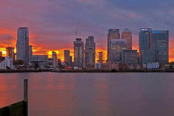发光,回家,晚上,伦敦,英格兰