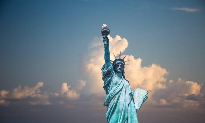 自由女神像高清壁纸
