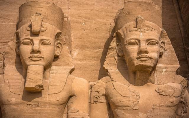 古代,阿布辛贝,雕像