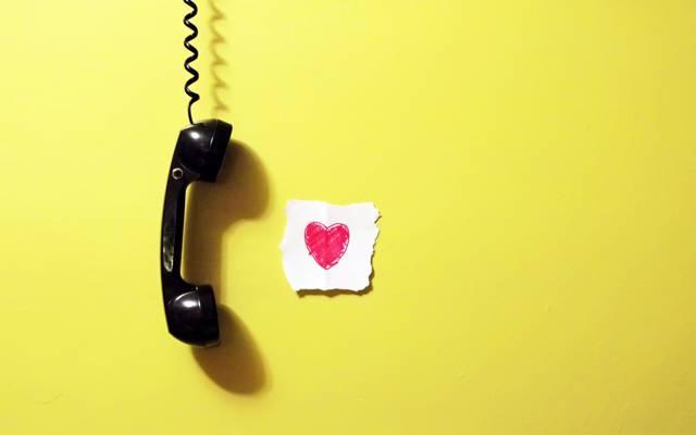 心,纸,墙,手机