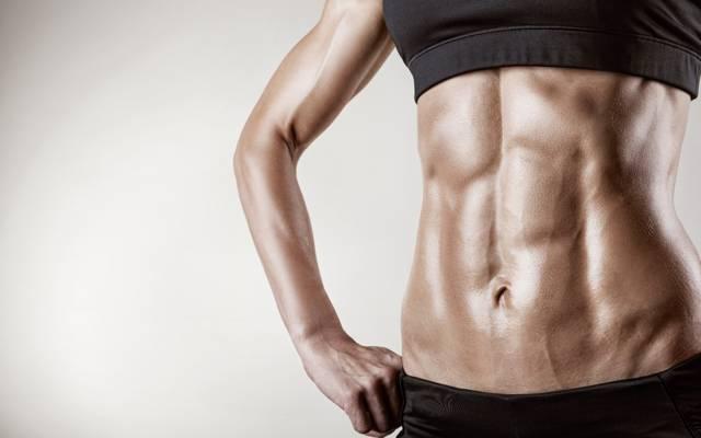 女性,腹肌,饮食,健身,剪影,低脂肪