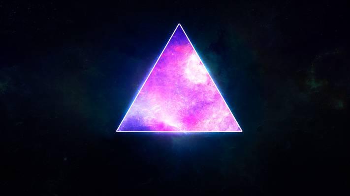 空间,三角形,星球,星星