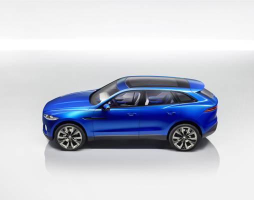 十字,捷豹,蓝色,捷豹c x17,汽车