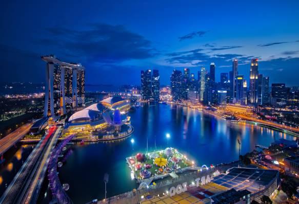 滨海湾新加坡高清壁纸