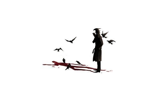 超现实主义,鸟,血,外套,阴影,男性