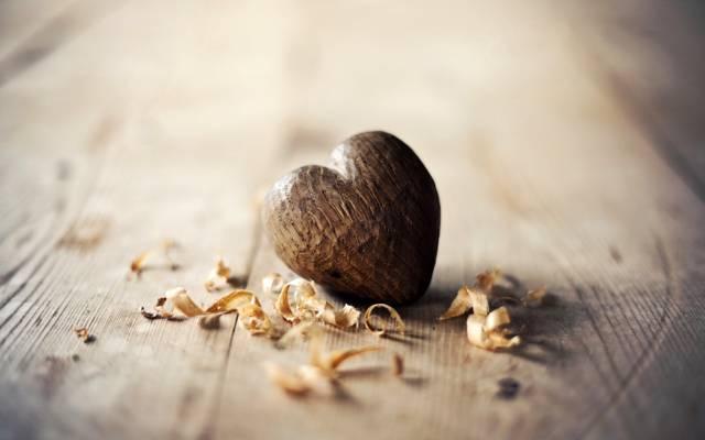 心,木,木屑,芯片,心