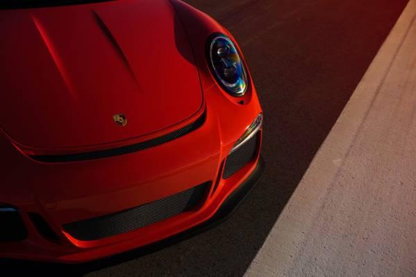 颜色,光,太阳,橙色,保时捷,前面,超级跑车,911,GT3RS