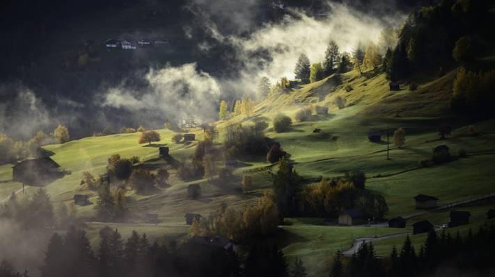 绿草场风景摄影高清壁纸