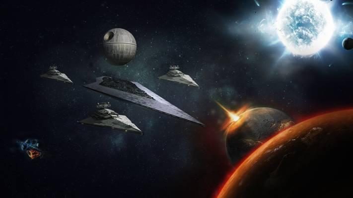 驱逐舰,死亡,明星,月亮,空间,战争
