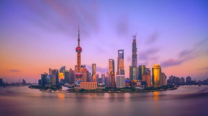 中国,上午,黎明,上海