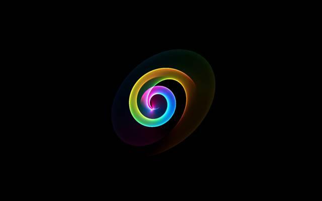 颜色,光,环,螺旋,空间