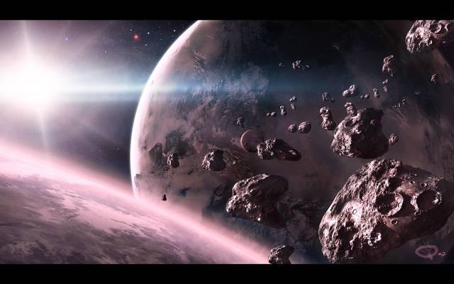 壁纸星球,陨石,QAuZ,艺术,明星,空间