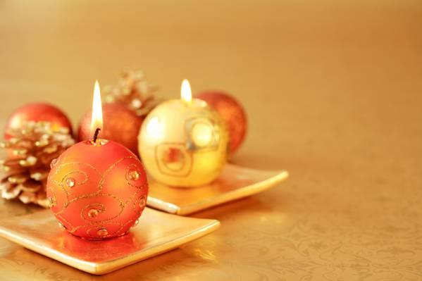 壁纸新年,蜡烛,假期,颠簸,站立,蜡烛,黄金,圣诞节,风景