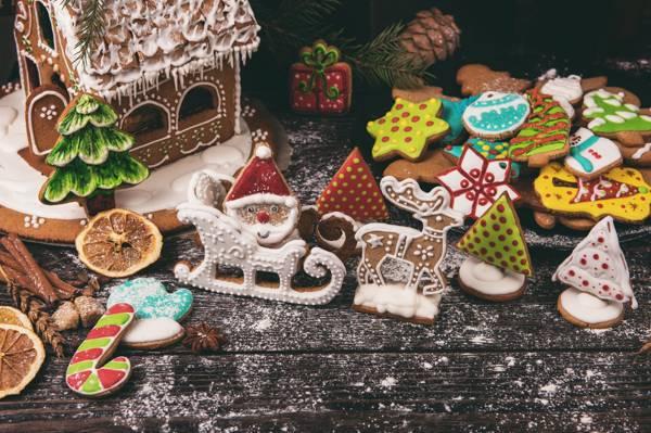 分支机构,香料,数字,董事会,圣诞节,糖,树,粉,饼干,颠簸,姜饼,蛋糕,假日,姜饼屋