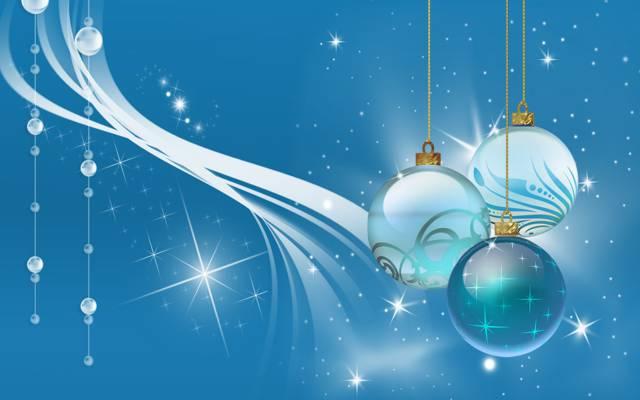 球,新的一年,珠子,火花