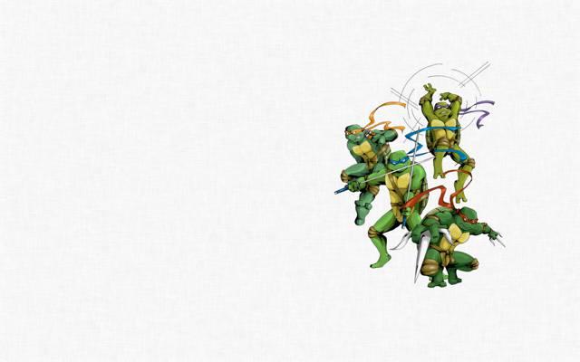 极简主义,莱昂纳多,多纳泰罗,少年突变忍者龟,拉斐尔,忍者神龟,米开朗基罗,突变忍者...