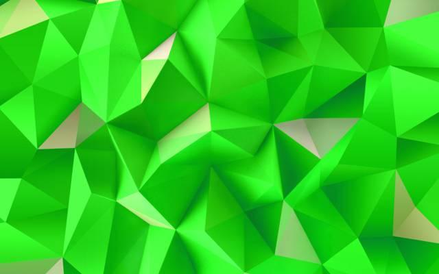三角形,摘要,墙纸,绿色