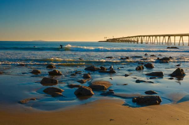 海景观摄影,文图拉,加州高清壁纸