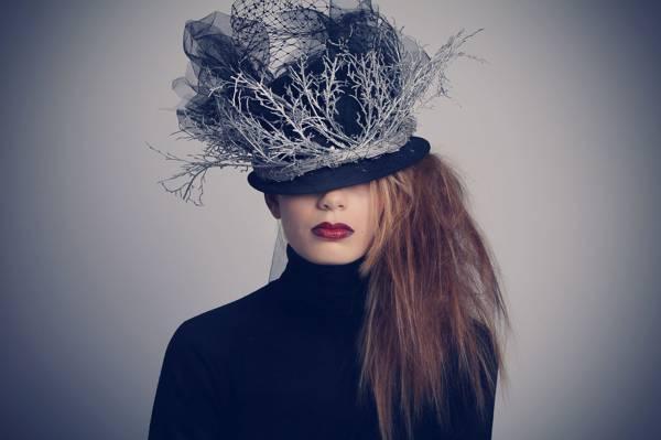风格,女孩,帽子