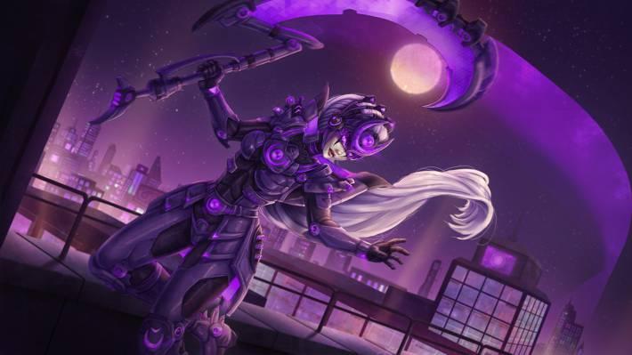 月亮,月球的蔑视,满月,夜晚,女孩的城市,黛安娜,联盟的...