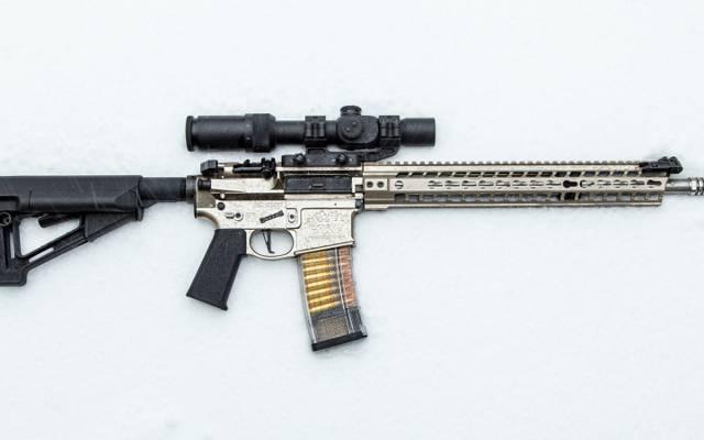 武器,雪,突击步枪,背景,光学