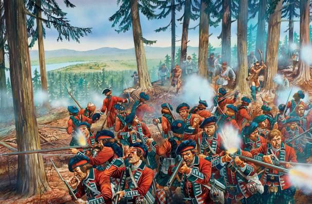 武器,镜头,突袭,谷,法国,艺术,印度,战斗,1758年图,俄亥俄州