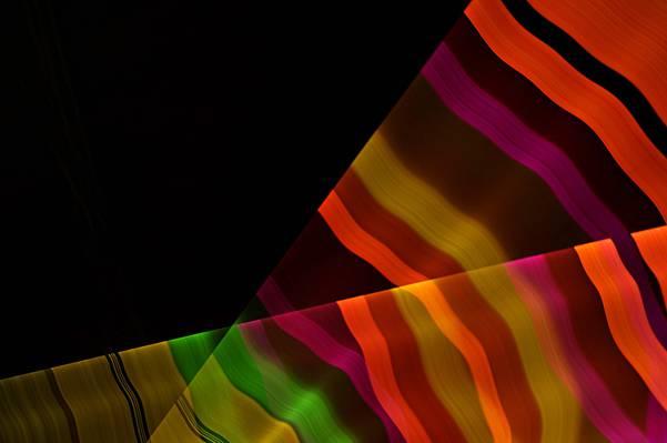 彩虹,线,光线,地带