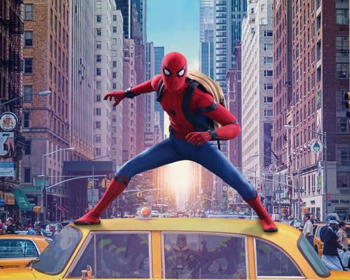 科幻,行动,小罗伯特·唐尼,出租车,蜘蛛侠:回家,年轻人,复仇者,回家,塔,托尼·史塔克,...