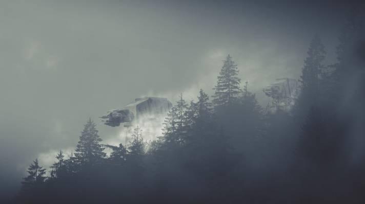 星球大战,机器人,星球大战,雾