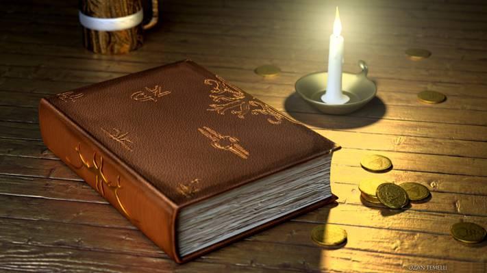 基于吟游诗人,蜡烛,幻想,艺术,硬币,书,小酒馆
