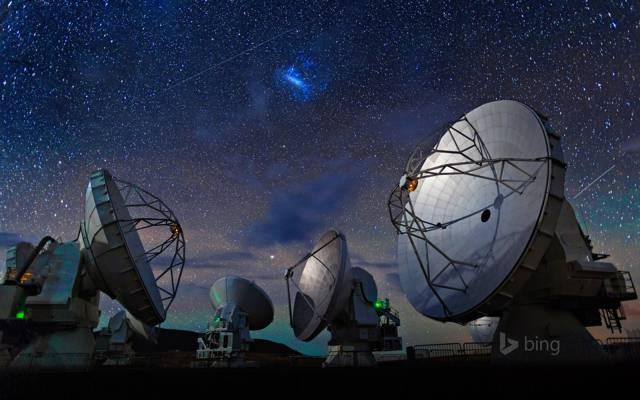 阿塔卡马沙漠,天空,智利星星,射电望远镜