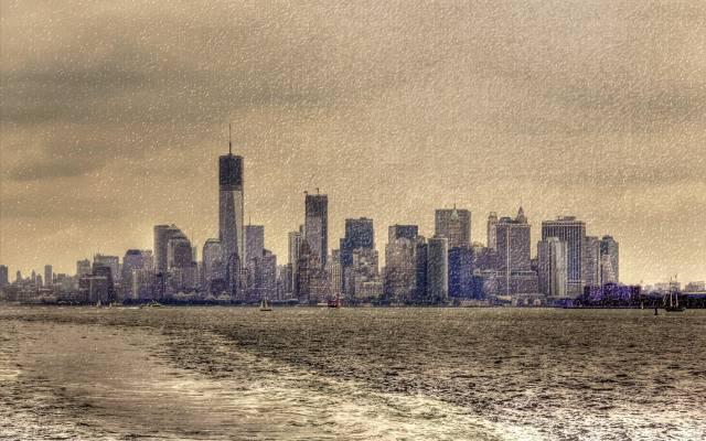 风格,背景,纽约,城市