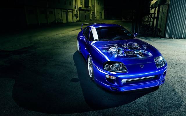 丰田超,发动机,蓝色,汽车