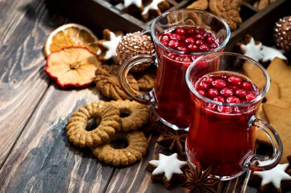 饼干,杯子,假期,新年,饮料,Anis