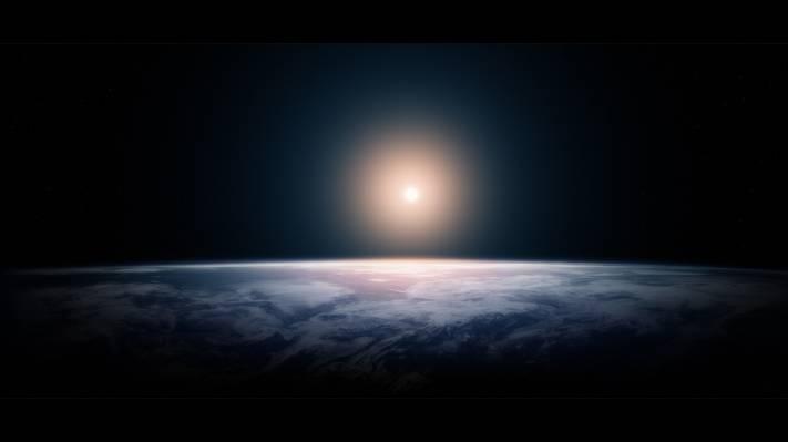 地球,行星,光,灯,空间,空间