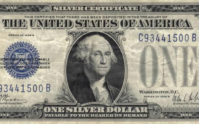 美元,银,蓝,华盛顿你,一个