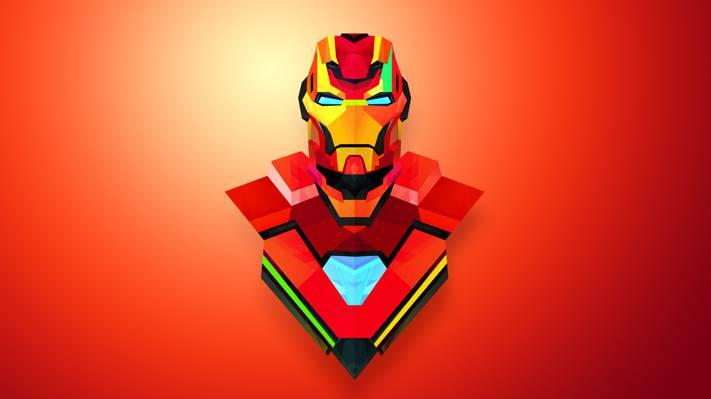 钢铁侠,铁人,极简主义,抽象