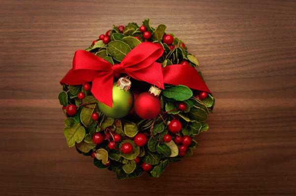 球,新年,花圈,假期,磁带,红色,新年,圣诞节,装饰,霍利,圣诞节,风景