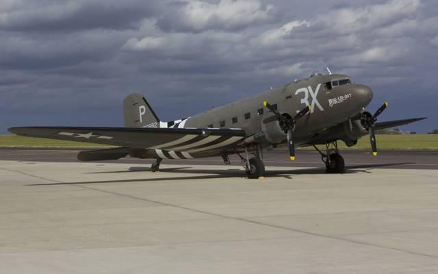军用运输机,C-47A,道格拉斯机场,轻轨