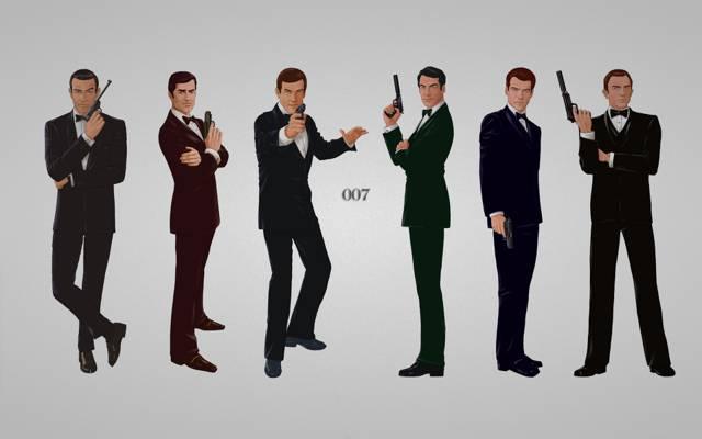 邦德,蒂莫西·道尔顿,乔治·拉森比,六人,罗杰·乔治·摩尔,题词,特工007,詹姆斯...