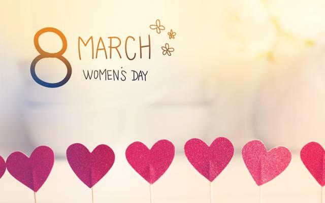 妇女节,浪漫,礼物,3月8日,心,心,快乐