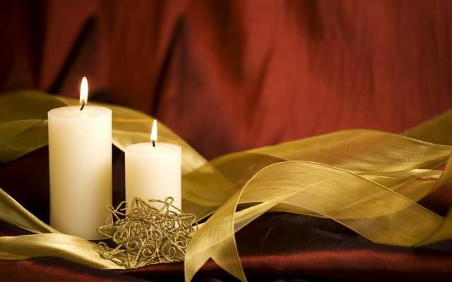 蜡烛,磁带,装饰,假期,新的一年