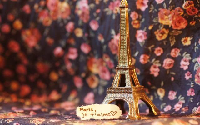 壁纸法国,文字,图,注意,埃菲尔铁塔,雕像,题字