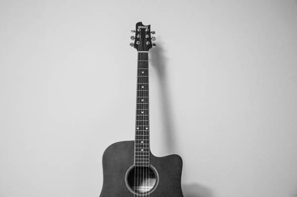 黑白,音乐,弦乐器,吉他高清壁纸